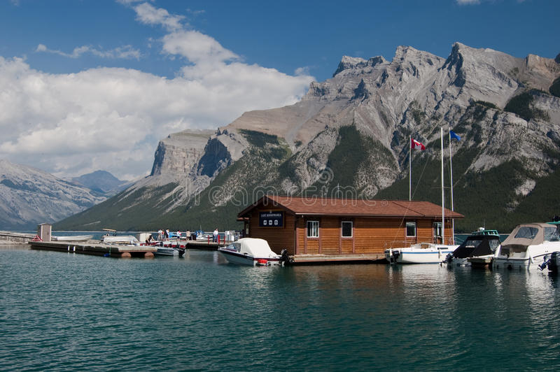 Lake Minnewanka at Banff, Alberta, Canada royalty free stock image