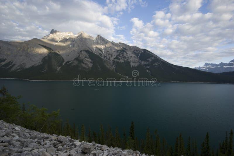 Lake Minnewanka Trail. In Banff National Park, Alberta, Canada royalty free stock photography