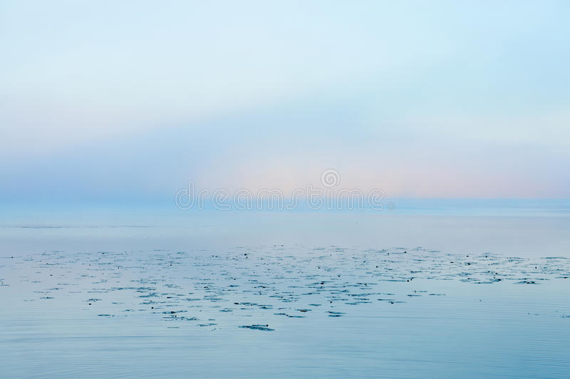 Download Lake on misty morning stock image. Image of background - 33518015