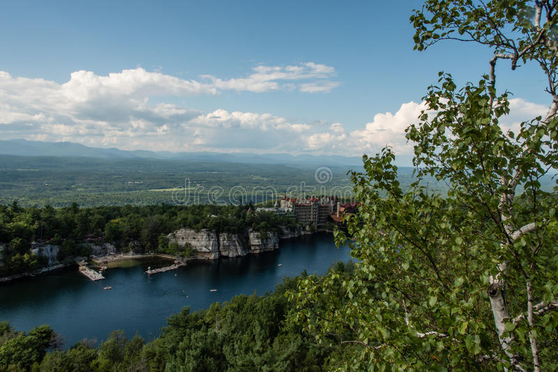 Lake Mohonk in the summer. Hudson valley, New York royalty free stock photo