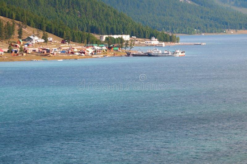 Lake in Mongolia royalty free stock photo