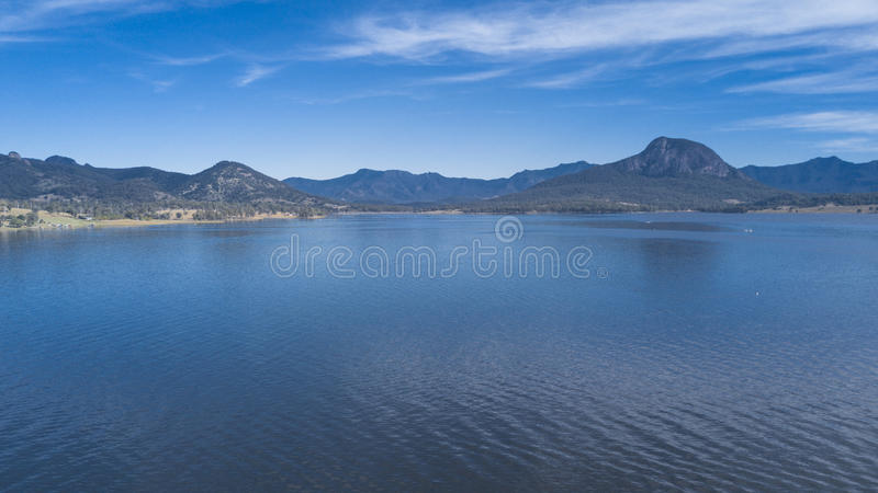 Lake Moogerah in Queensland. Lake Moogerah on the Scenic Rim in Queensland during the day royalty free stock photo
