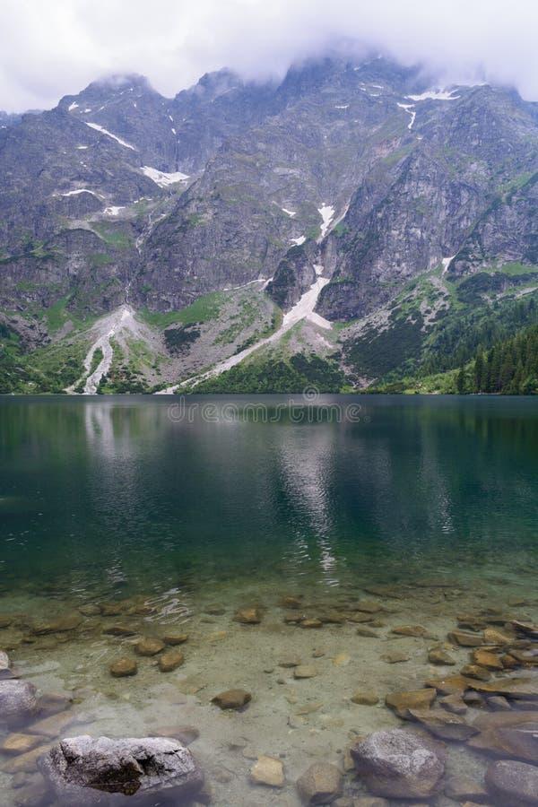 Download Lake Morskie Oko stock image. Image of national, woods - 47778965