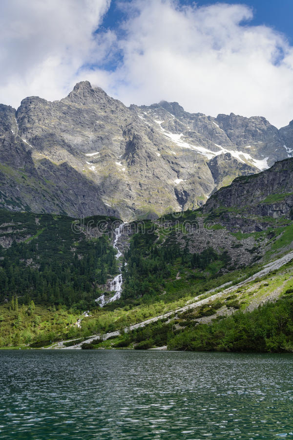 Lake Morskie Oko royalty free stock images