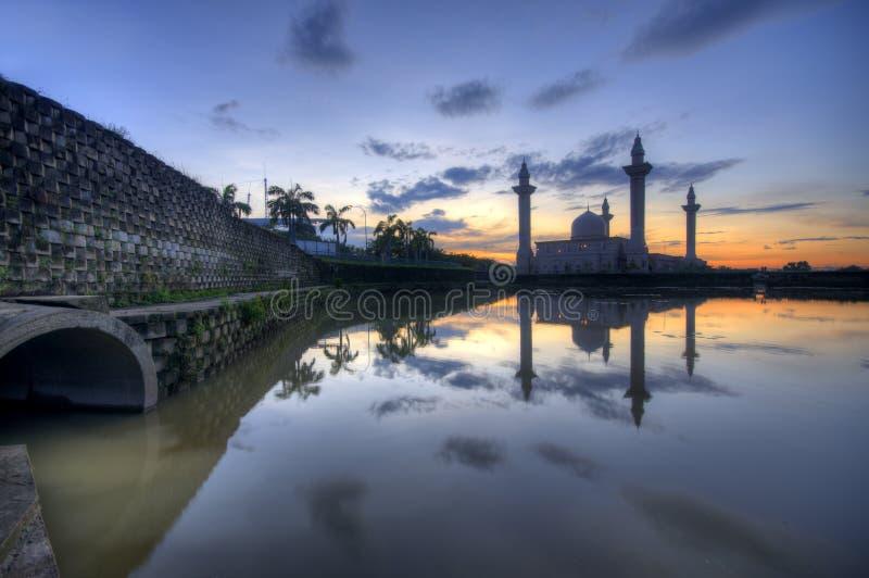 Lake Of Mosque Jelutong. Masjid Bukit Jelutong Address 44 Jalan U8/15, Bukit Jelutong, 40150 Shah Alam, Selangor, Malaysia   Directions Masjid, Local Info, Place royalty free stock photography
