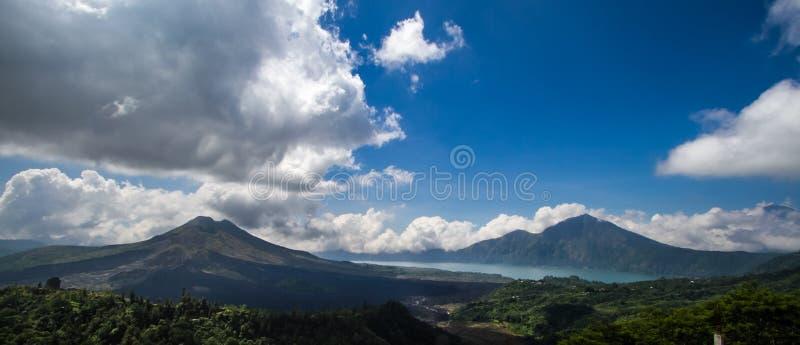 Lake and Mount Batur. Bali royalty free stock images