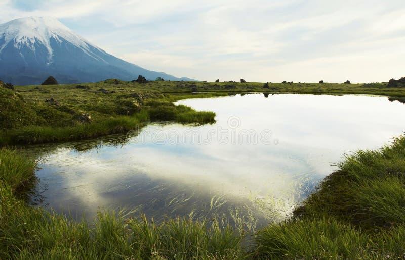 Lake in mountain stock photos