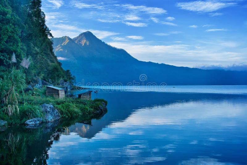 Download Lake and Mountain in Bali stock image. Image of morning - 34194193
