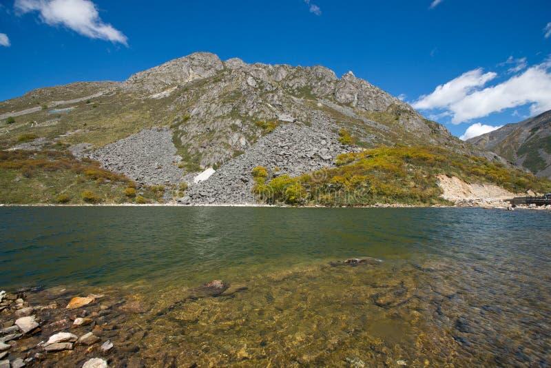 Lake and mountain landscape