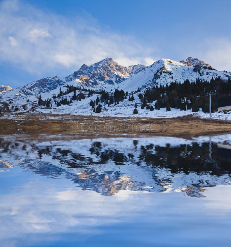Lake mountain landscape royalty free stock images