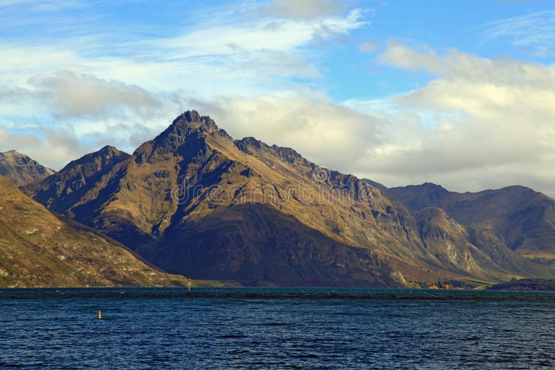 Lake Mountain Queenstown New Zealand royalty free stock image