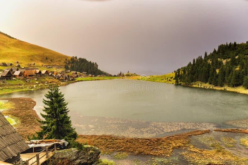 Lake on the mountain royalty free stock image