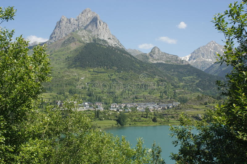 Download Lake And Mountain In Tena Valley, Pyrenees Stock Photos - Image: 15253853