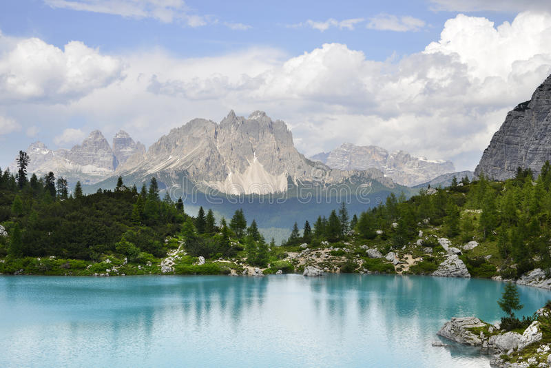 Download Lake and mountain view stock photo. Image of cool, walk - 32345366