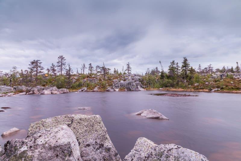 Lake on Mountain. Of the Vottovaara in Karelia, Russia stock photos