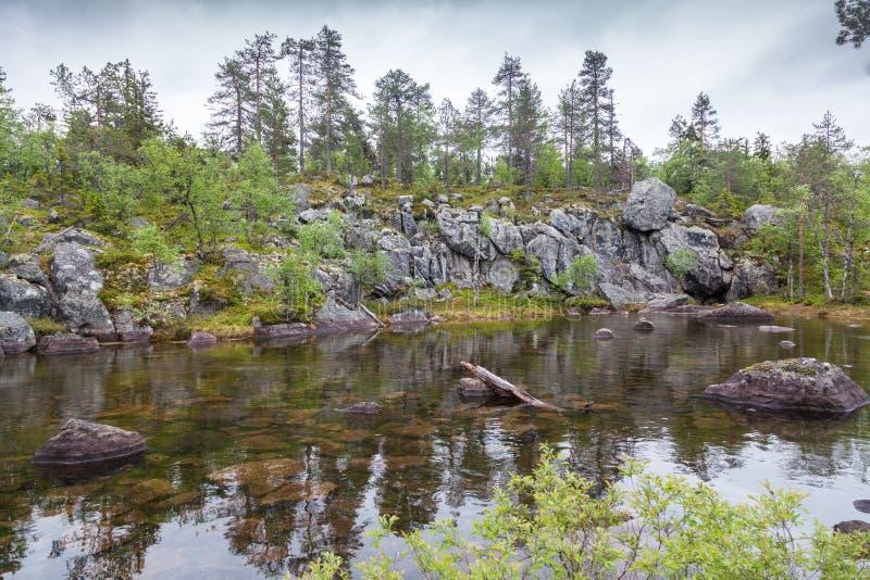 Lake on Mountain. Of the Vottovaara in Karelia, Russia stock photography