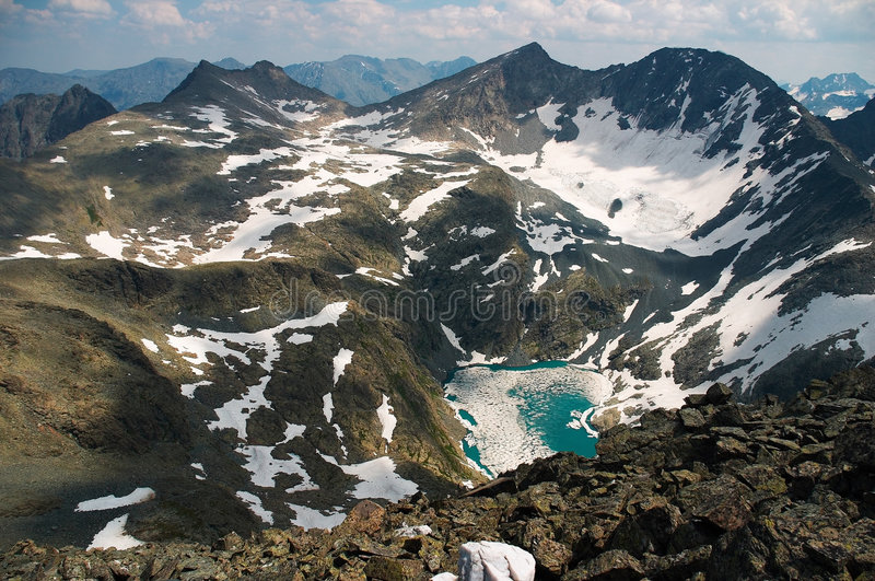 Lake in the mountains-01 stock photo