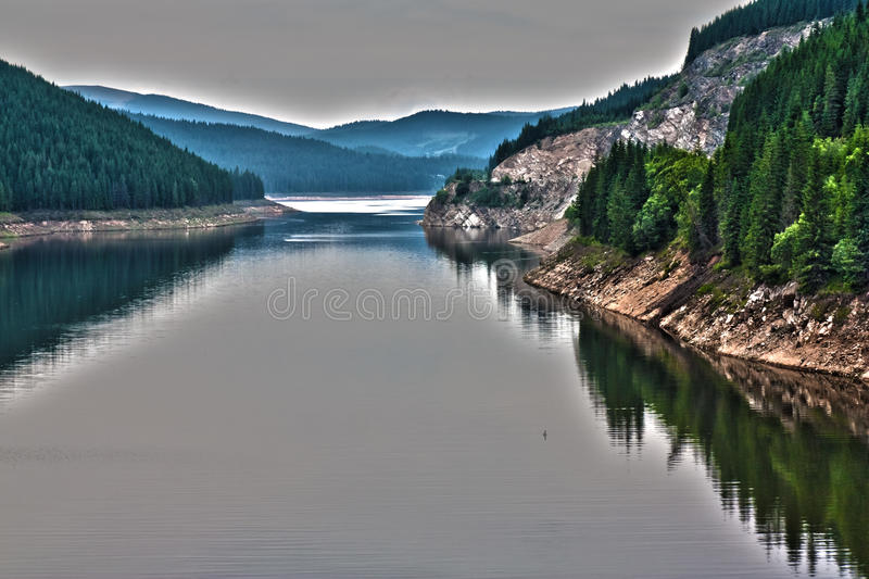 A lake in the mountains royalty free stock photography
