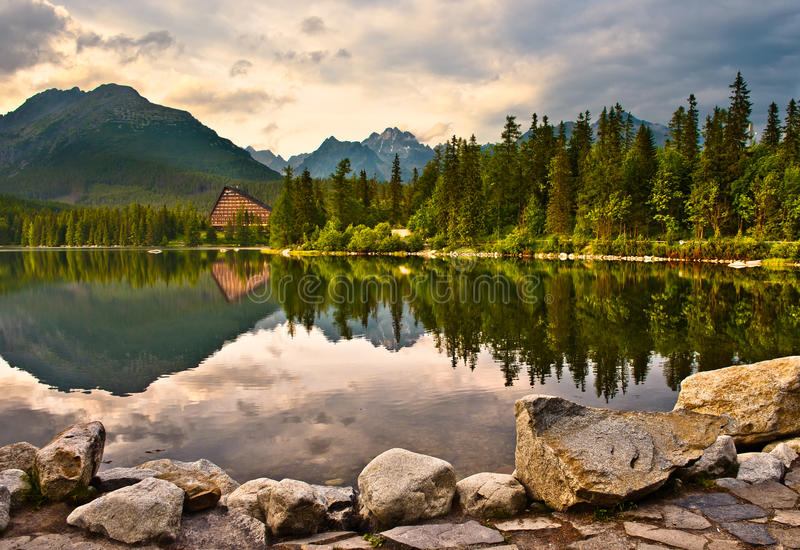 Download Lake in mountains stock photo. Image of tatra, summer - 25467354