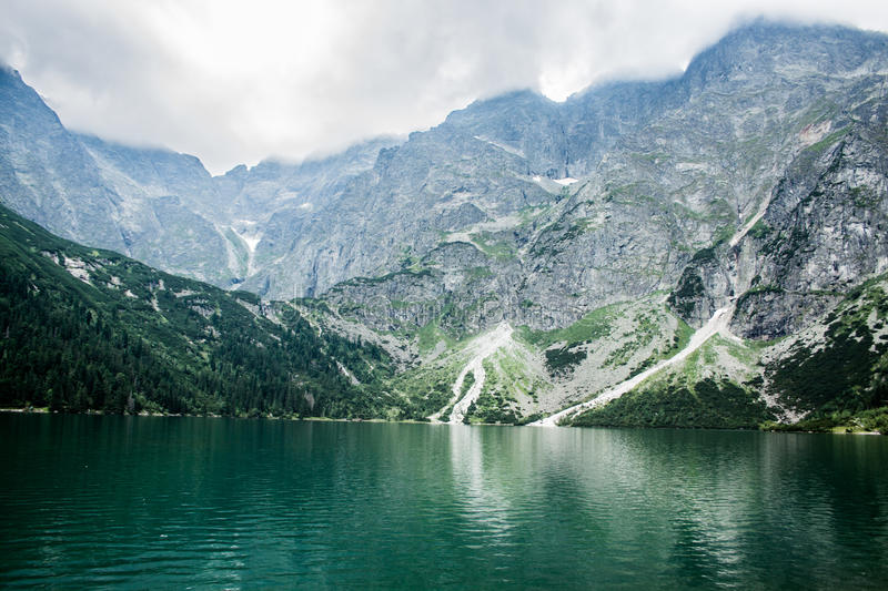 Lake in the mountains. Beautiful lake in the mountains royalty free stock image