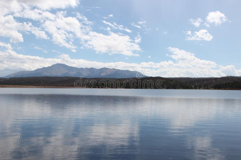 Lake in the mountains stock photography