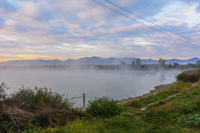 Download Lake In The Mountains For Recreation . Early Morning Stock Image - Image: 78966907