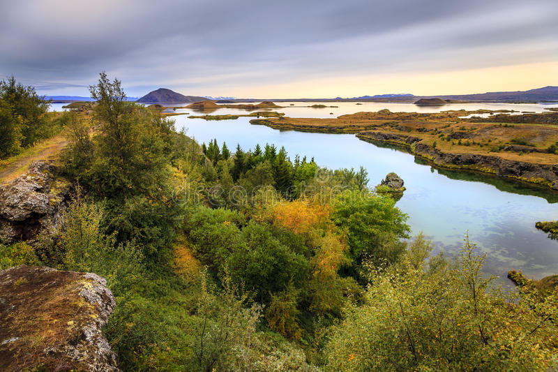 Lake Myvatn royalty free stock images