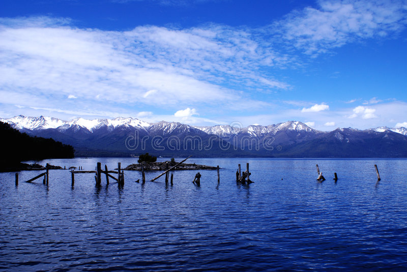 Lake Nahuel-Huapi, Patagonia, Argentina royalty free stock photography
