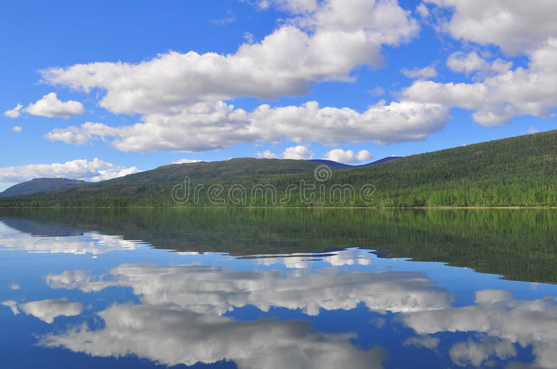Lake Nakomyaken in the Putorana plateau. royalty free stock image