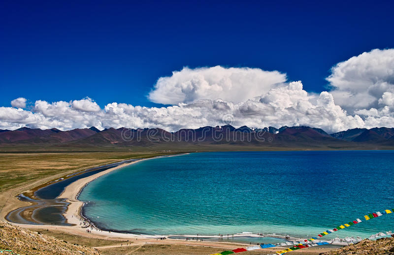 Download Lake Nam stock photo. Image of wide, china, wind, tableland - 28658180
