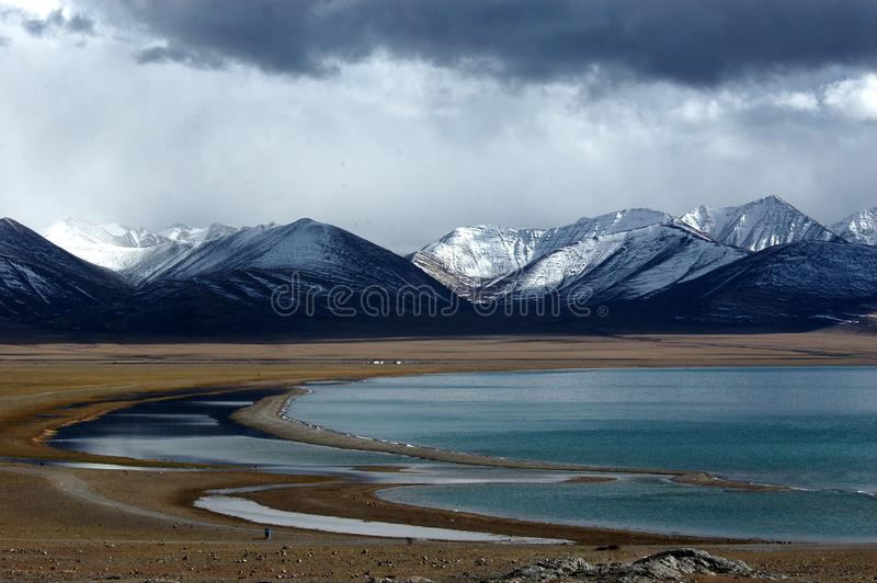 The Lake Namtso stock photography
