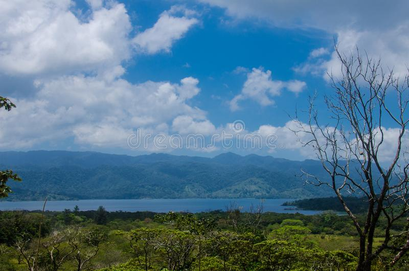 Lake near the Arenal Volcano, Costa Rica stock photo