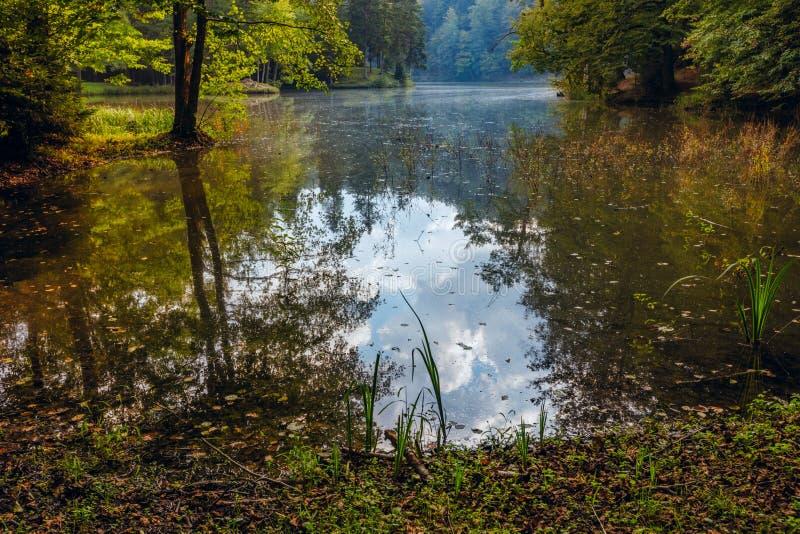 Lake near Trakoschan Castle in Croatia. Autumn on Lake near Trakoschan Castle in Croatia stock photo