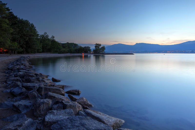 Lake Neuchatel, Switzerland stock photos