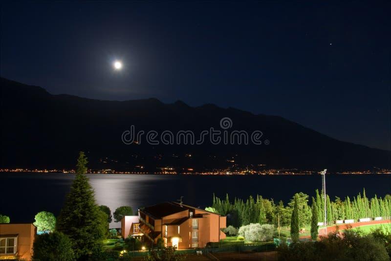 Lake at night stock image