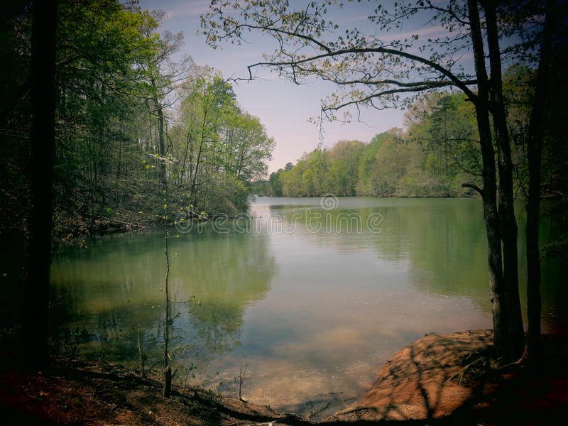 Download Lake Norman stock photo. Image of effect, dreamy, background - 39992782