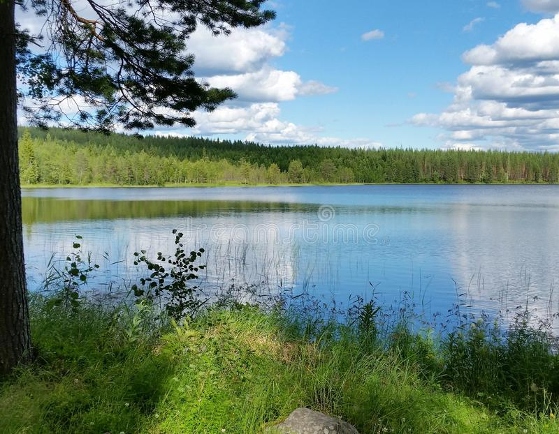 Sweden lake Top off europe royalty free stock photography