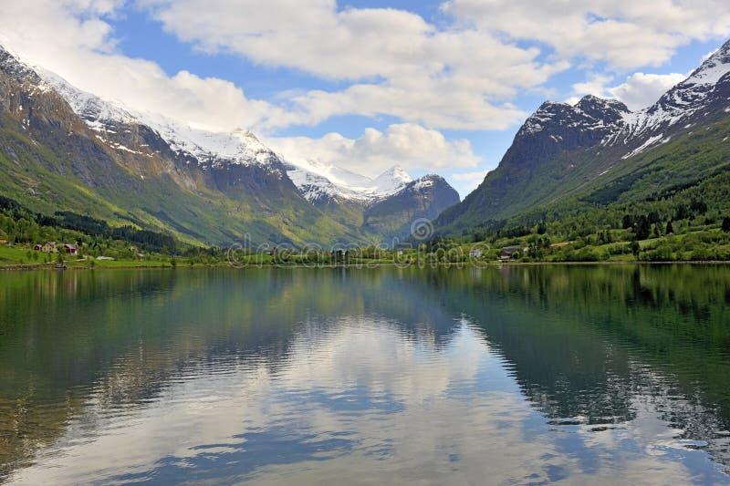 lake norway royaltyfri fotografi