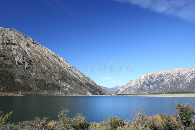 lake nya pearson zealand royaltyfri bild