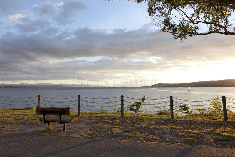 Lake nyazeeländska Taupo royaltyfria bilder