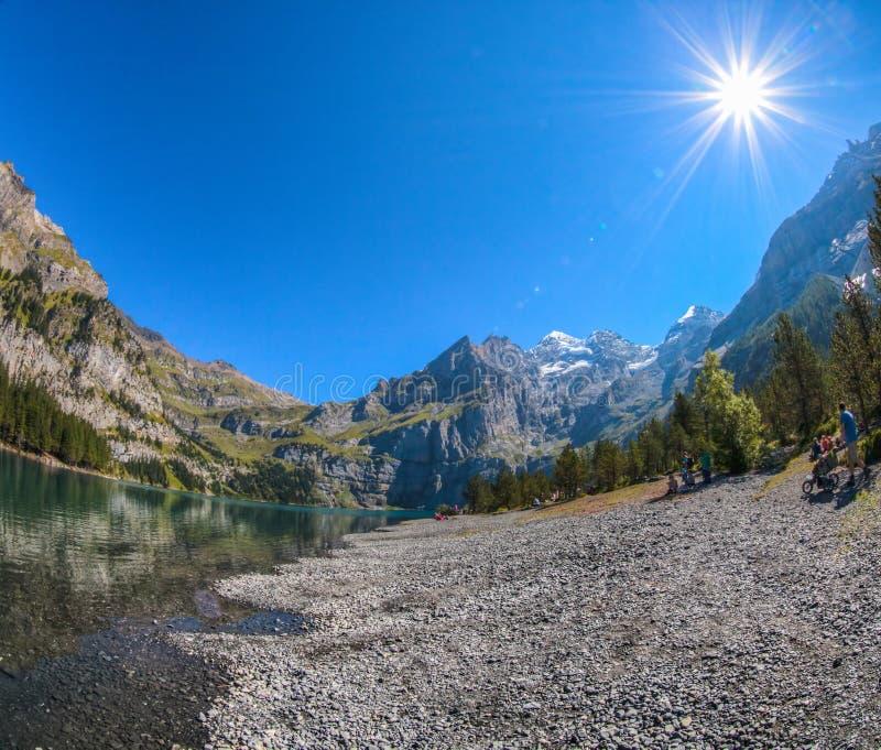 Download Lake Oeschinen Shoreline editorial photo. Image of mountain - 26540666