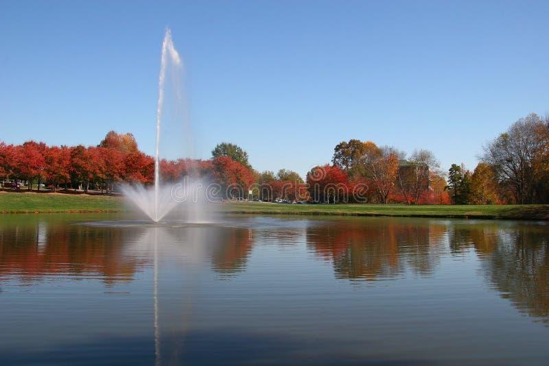 Lake at the Office. Park royalty free stock photo