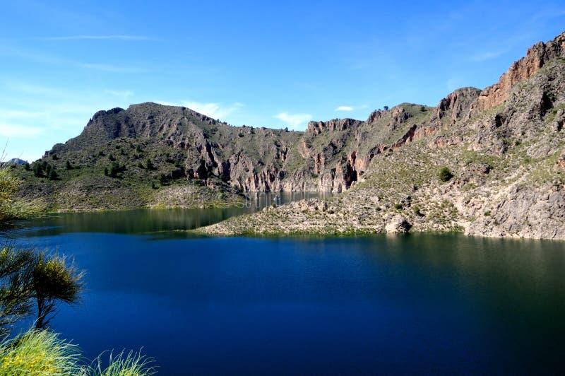 Lake oj Cenajo - Dam on Segura river (Spain) royalty free stock photography