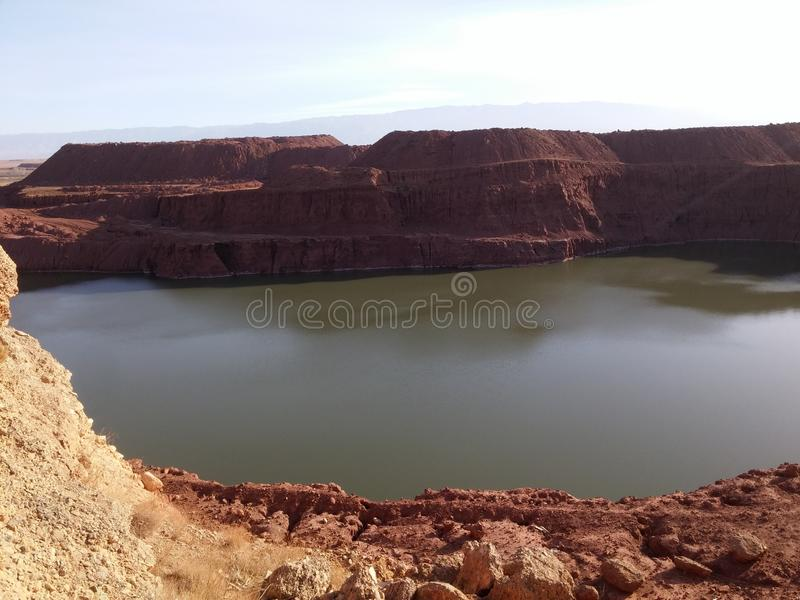 Lake old mine royalty free stock photography