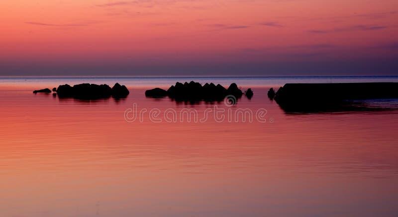 Lake Ontario Cracking Dawn royalty free stock photo