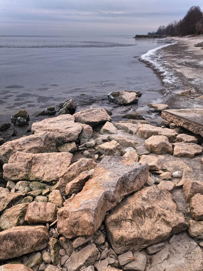 Lake Ontario Shoreline stock photography