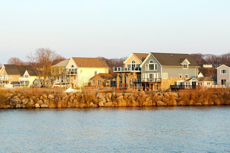 Lake Ontario Vacation Homes Stock Image - Image of home ...