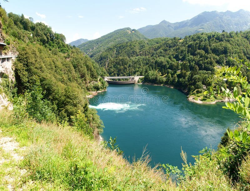 Lake of Palagnedra, Centovalli royalty free stock image