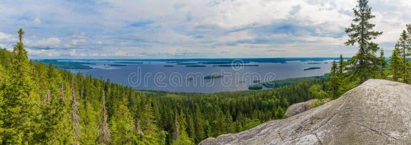 Lake panorama in Finland royalty free stock image