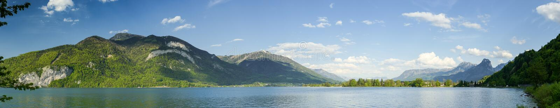 Lake panorama stock photography